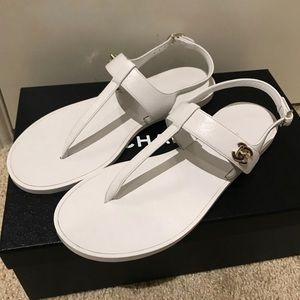 Chanel CC Turn-lock T Strap Sandals